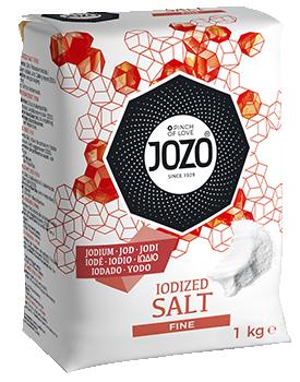 Salt med jod fint 1kg Paper bag