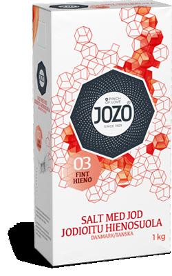 Fint salt med jod 1kg Kartong