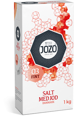 Salt tilsatt jod – fint 1kg Carton box